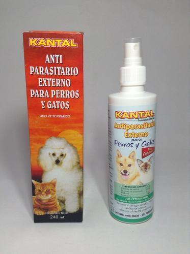 Antiparasitario Externo Kantal 240ml Perros Y Gatos