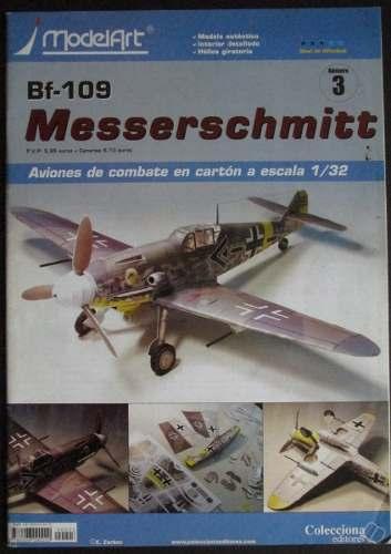 Avion Armable De Papel Bf-109 Messerschmitt Esc. 1/32