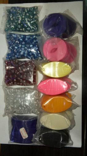 Material Plástico Surtido Para Hacer Pulseras Y Zarcillos