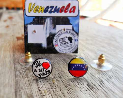 2 Pares De Zarcillos De Venezuela, Venta Al Mayor Y Detal
