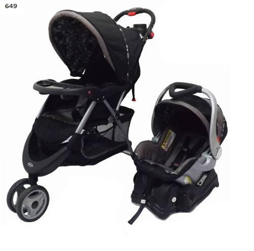 Coche 3 Ruedas Y Portabebe Baby Trend.