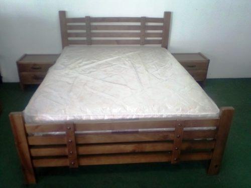 Dormitorio Matrimonial De Madera Pino