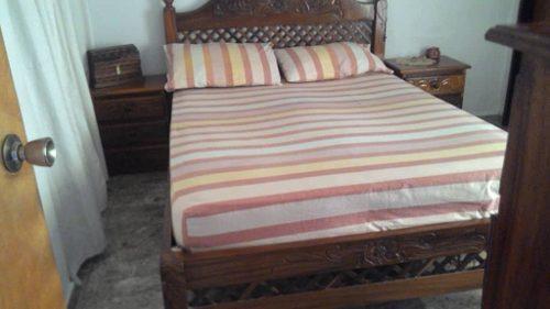 Juego De Dormitorio Matrimonial De Madera De Roble