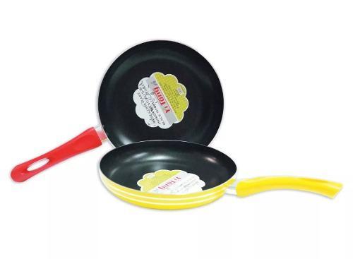 Sarten Cocina Antiadherente Teflon 24cm Varios Colores Hogar