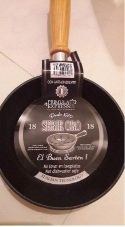Sarten De Teflon Antiadherente Primula 18 Cm Serie Oro