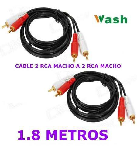 Cable 2 Rca Macho A 2 Rca Macho Audio Corneta Wash 1.8 M Ccc