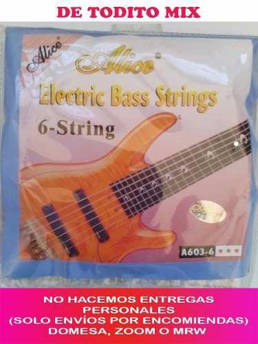 Juego De Cuerdas Para Bajo 6 Cuerdas Alice Modelo A603-6