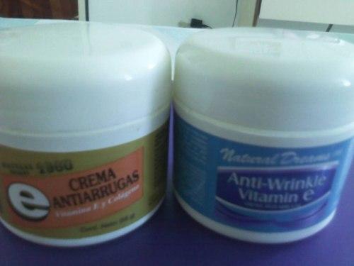 Cremas Rosa Mosqueta Vitamina E, Antioxidante Y Antiarrugas