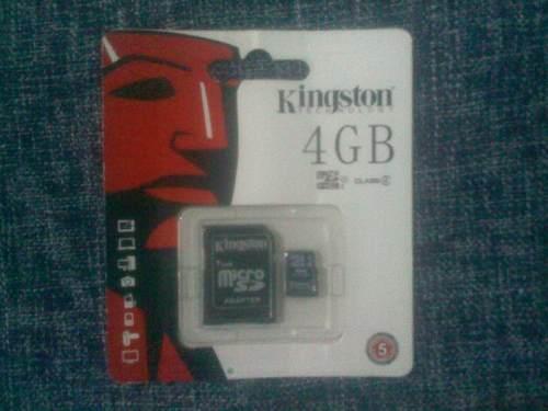 Memoria Micro Sd 4gb Kingston Nueva