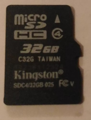 Micro Sd 32 Gb Kingston - Precio Publicado