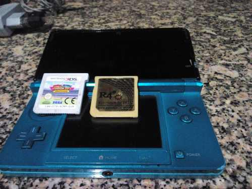 Nintendo 3ds + R4 Con Accesorios. Buen Estado, Remate 45 Tru