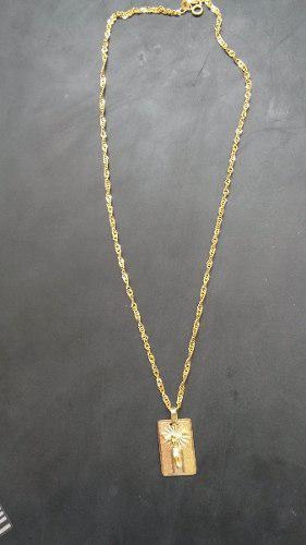 Cadena De Oro 18k 750 +placa Cristo Oro Cartier 18k Italiano