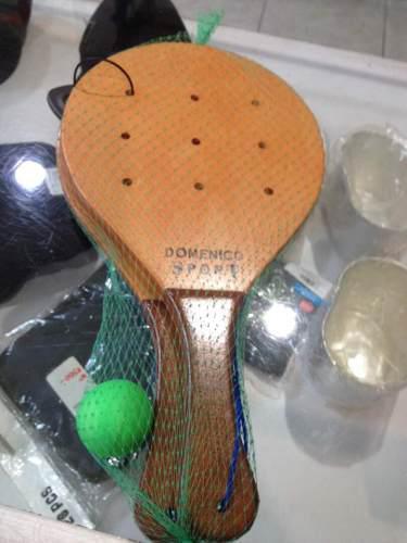 Raquetas De Playa En Madera, Uso Profesional.