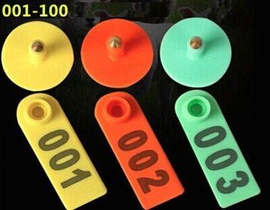 Aretes Para Ganado Identificadores Numerados Paquete De 100