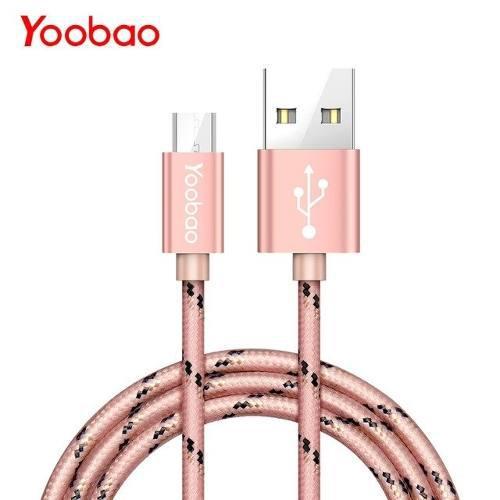 Cable Micro Usb De Carga/datos Trenzado Yoobao Yb-423 Rose
