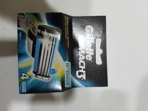 Cartuchos Gillette De 4 Y Maquina De Afeitar Original