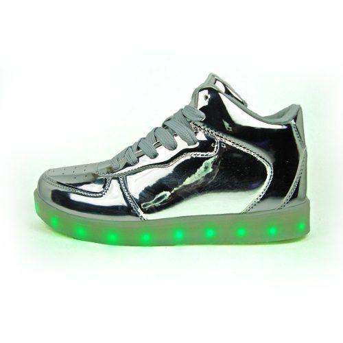 Zapato Botin Deportivo Luces Led + Usb Juvenil 35 Al 40