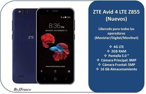 Zte Avid 4 Lte Z855 16gb 5.0 Oferta Nuevo (100 Usd)