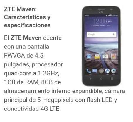 Zte Maven Z812 1gb Ram 8gb Memoria 4.5 Oferta Android