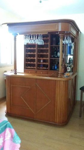 Bar De Madera Tipo Tasca + 3 Sillas 450ver Ds