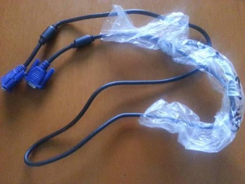 Cable Video Vga Monitor Pc Laptop Macho A Macho 1.5 Metros