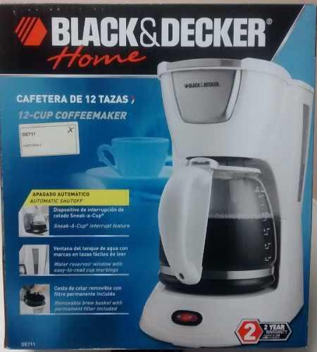 Cafetera Black & Decker De 12 Tazas Modelo: De711.