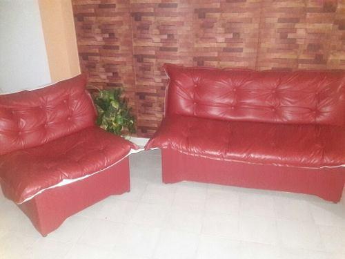 Juego De Muebles Para Sala En Semicuero