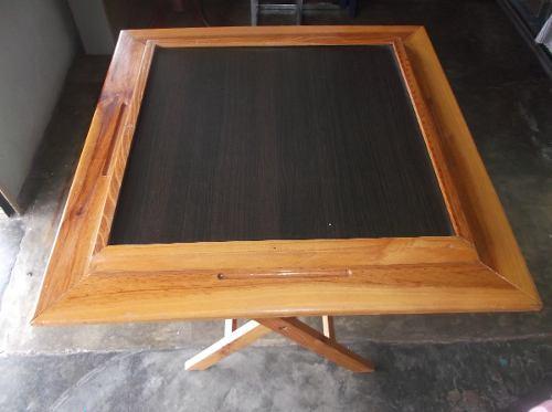Mesa De Domino Plegable Con Porta Vasos