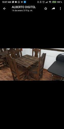 Mesa Restaurant Con 4 Sillas