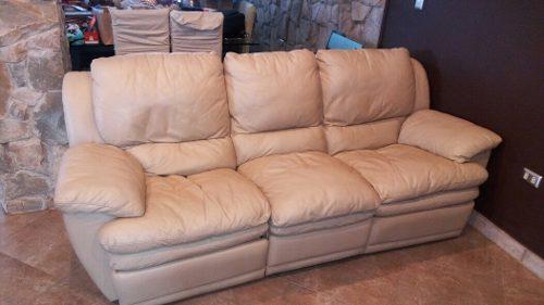 Sofa De Tres Puestos En Cuero Reclinable