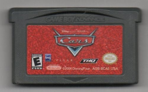 Cars Game Boy Advance. Video Juego Original Usado A4