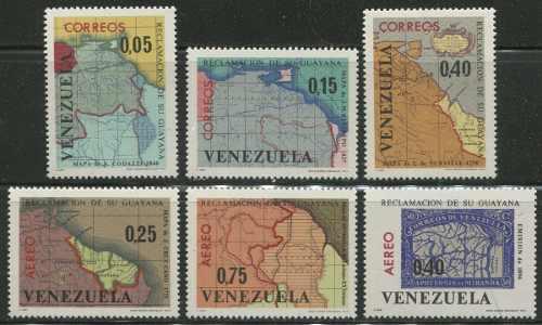 Estampillas Venezuela Año : Reclamación De Guyana