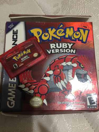 Juego Pokémon Ruby Versión Game Boy Advance