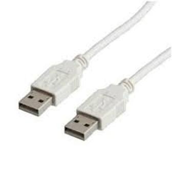 Cable Usb Macho Macho Tipo A 2.0 Color Blanco Alta Velocidad