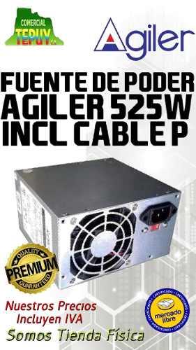 Fuente De Poder Agiler 525w Incl Cable P Grande Oferttepuy