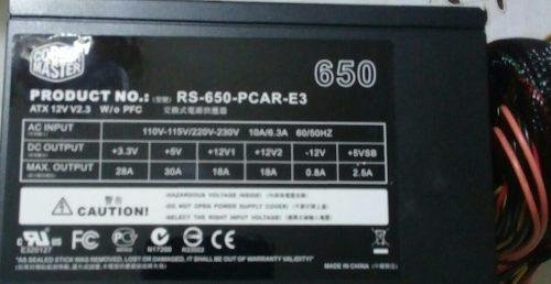 Fuente De Poder Cooler Master 650w