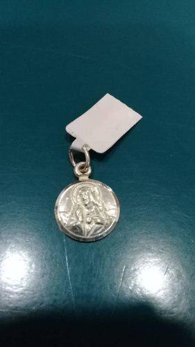 Medalla Sagrado Corazon En Plata De Ley 925 Nacional
