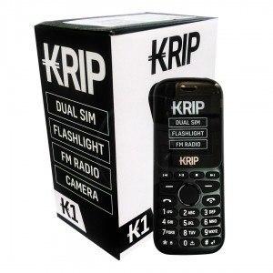 Telefono Celular Basico Dual Sim Krip K1 Negro