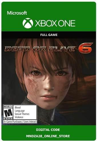 Dead Or Alive 6 Videojuego Xbox One / Código Digital (v)