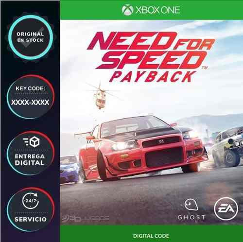 Need For Speed Payback Xbox One Codigo Digital Juega Online