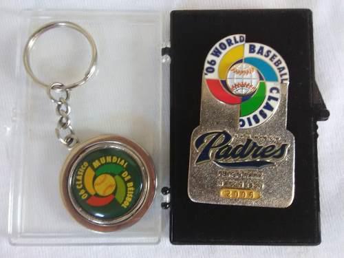 Pin 1er. Clasico Mundial De Beisbol Y Llavero 2006 25v