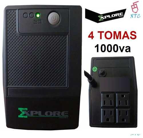 Ups Regulador De Voltaje Explore va 4 Tomas Backup Xtc