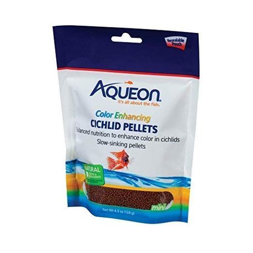 Alimento Comida Peces Ciclidos Aqueon Color Enhancing 128grs