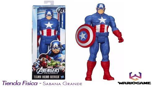Muñeco Capitan America Titan Hero Hasbro 30cm Somos Tienda