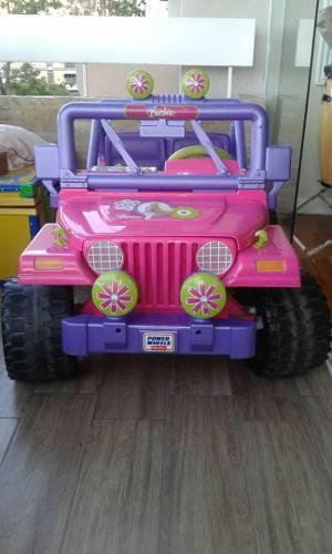 Coche Jeep Para Niña Marca Barbie 110verdes