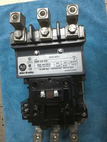 Contactor 135 Amp Bobina 110v Nema 4 Modelo 500f-eo*930