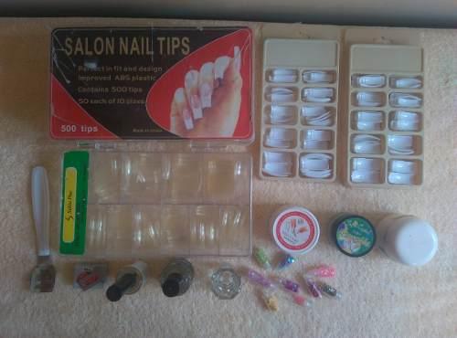 Set Para Manicure, Uñas Acrílicas, Polvos, Decoraciones