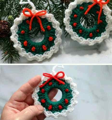 Adornos A Crochet Para Árbol De Navidad Por Docena