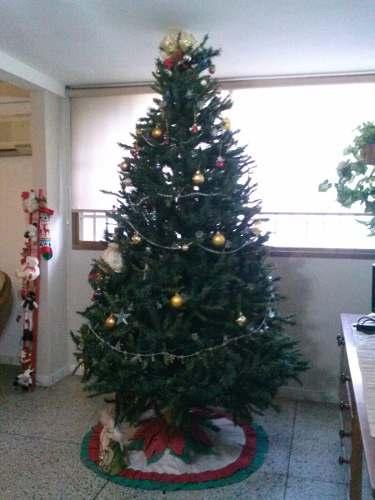 Arbol De Navidad De 2.20 M De Altura, Incluye Adornos