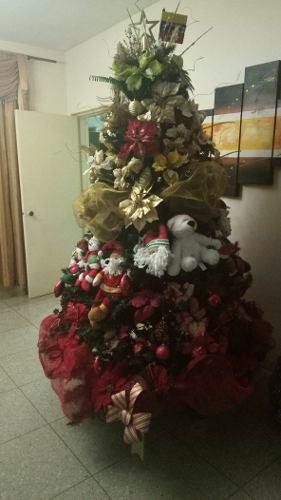 Arbolito De Navidad Con Sus Accesorios Y Base Giratoria